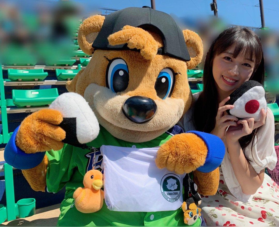 【12期 Blog】 『カビーちゃんがおにぎりくれましたのて♡生田目翼投手[答1]♪*゚』牧野真莉愛:…  #morningmusume19