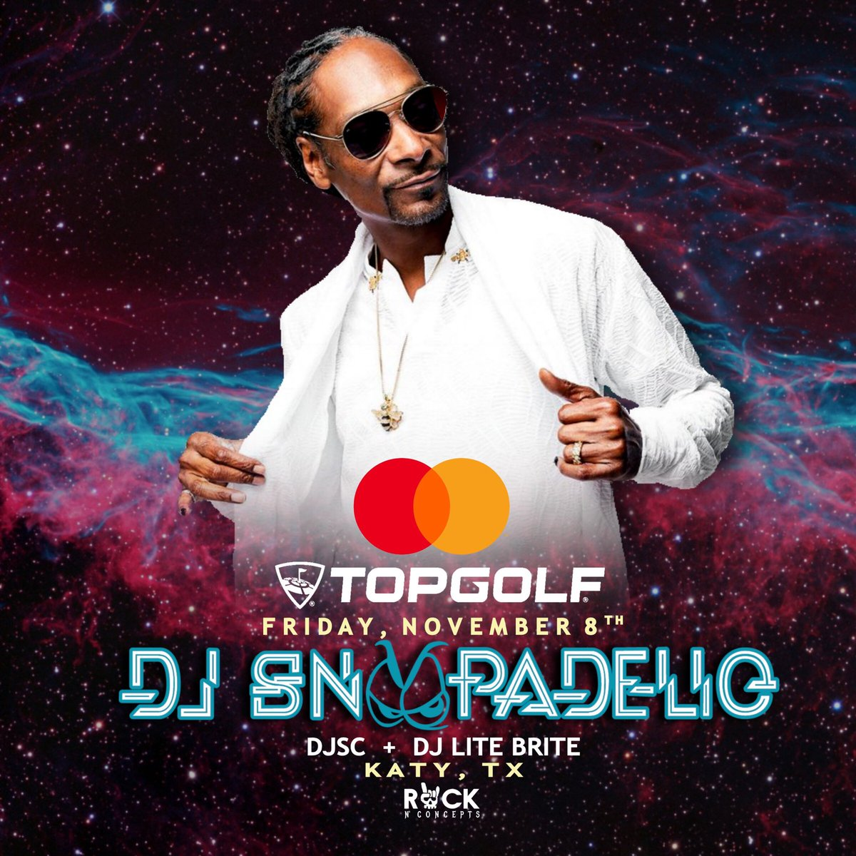 Who wants to see DJ Snoopadelic perform live on the field at Topgolf Houston-Katy on 11/8/19? If you have a @Mastercard, get your first-access ticket today before sales open up to everyone else. Ts&Cs apply. #HoustonTX Full details: bit.ly/2kO81MZ