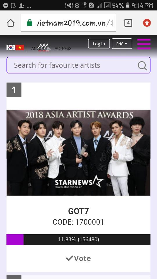 ahgases were at no. 1 in AAA :) keep voting to increase the gap :)   #GOT7  @GOT7Official <br>http://pic.twitter.com/Kpi7NWwHTe