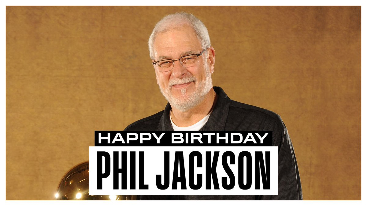 Join us in wishing a Happy 74th Birthday to 11x NBA Champion as a coach, 1996 NBA Coach of the Year & 2x NBA Champion as a player, @PhilJackson11! #NBABDAY