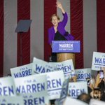 Image for the Tweet beginning: Warren campaign says 20,000 people