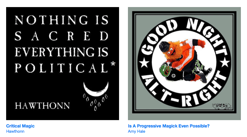 We've launched a Bandcamp page and have a variety of talks, readings & music due to come online soon. First up are two talks from our Towards A Progressive Magic event on the shape of the esoteric far right @horsehospital by @amyhale93 and @hawthonn bit.ly/30oNUDJ