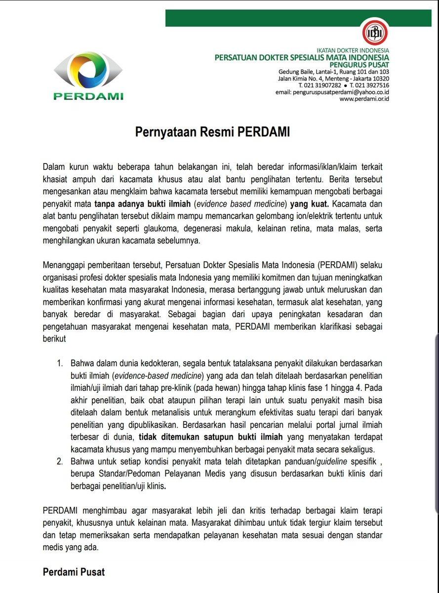 Ig Ferdirivahamzah On Twitter Surat Pernyataan Resmi