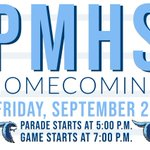 Image for the Tweet beginning: Perry Meridian High School's Homecoming