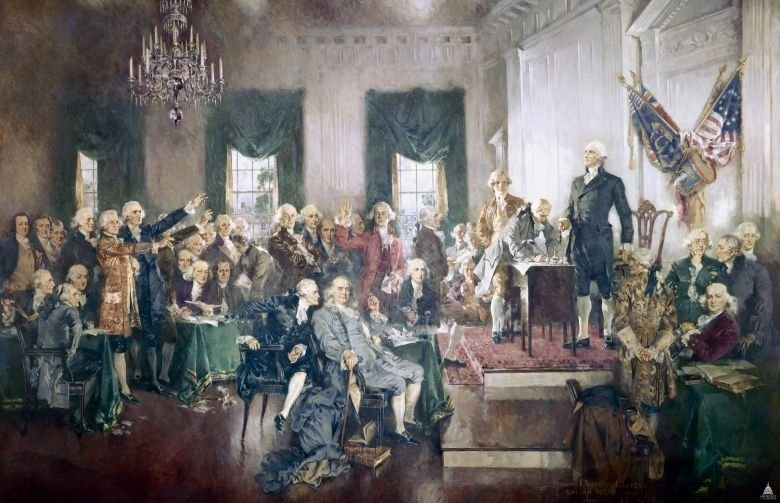 """As George Washington once said, """"The Constitution is the guide which I never will abandon."""" Today we honor the genius of the framers & encourage the next generation of Americans to learn from our founding principles. #ConstitutionDay<br>http://pic.twitter.com/GeEAbDGA0T"""