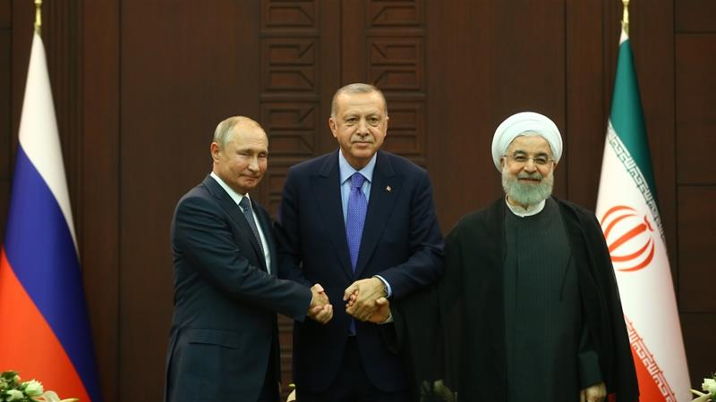 The leaders of Turkey, Russia and Iran have announced the formation of a committee to write Syria's constitution.  Analysts say the committee legitimatises Bashar al Assad  https:// aje.io/22vrj    <br>http://pic.twitter.com/UZCgkwJtW1