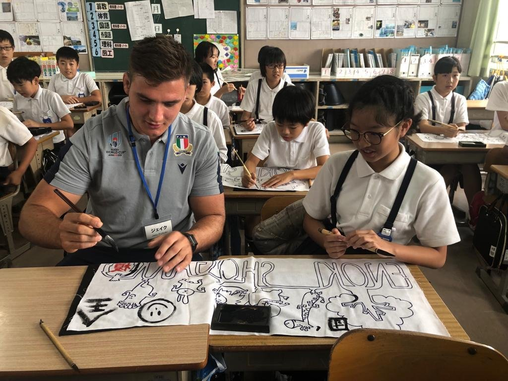 test Twitter Media - 📚 Everyday's a school day. @Federugby made the trip to Enoki Elementary School and got a heroes welcome from the students there #RWC2019 https://t.co/cXzaYC8pJW
