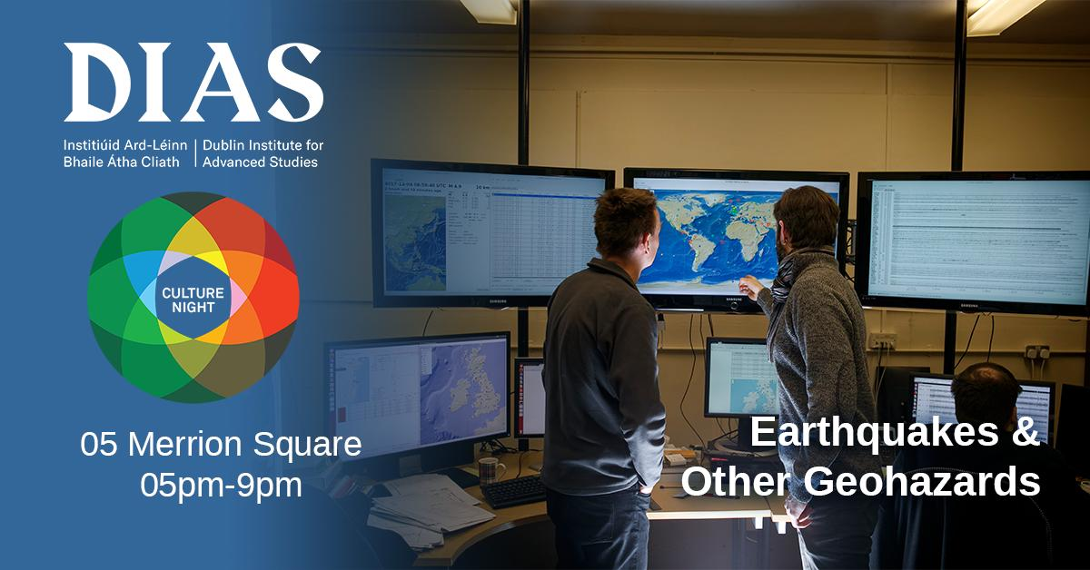 test Twitter Media - Geophysics, on 05 Merrion Square will host an evening on the past and present of live earthquake (and other geohazards) monitoring worldwide. No booking required #CultureNight #OícheChultúir #DIASdiscovers @DIAS_Geophysics https://t.co/yWR6V2xzO0