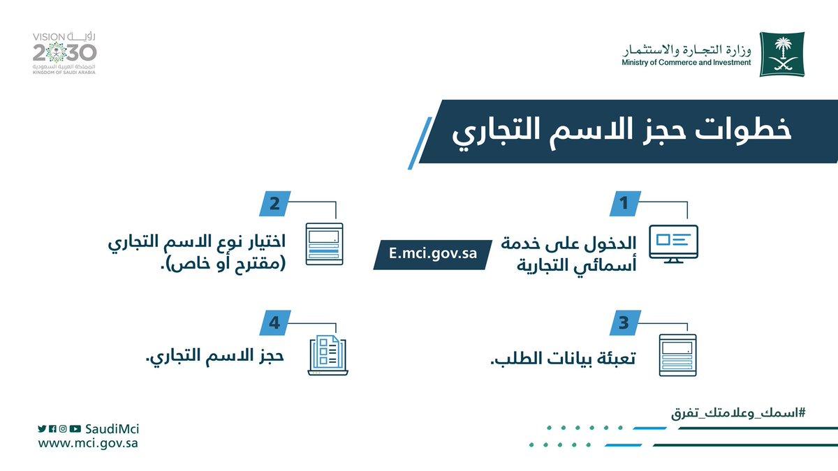 وزارة التجارة On Twitter 5 أسباب شائعة لرفض الاسم التجاري اسمك وعلامتك تفرق