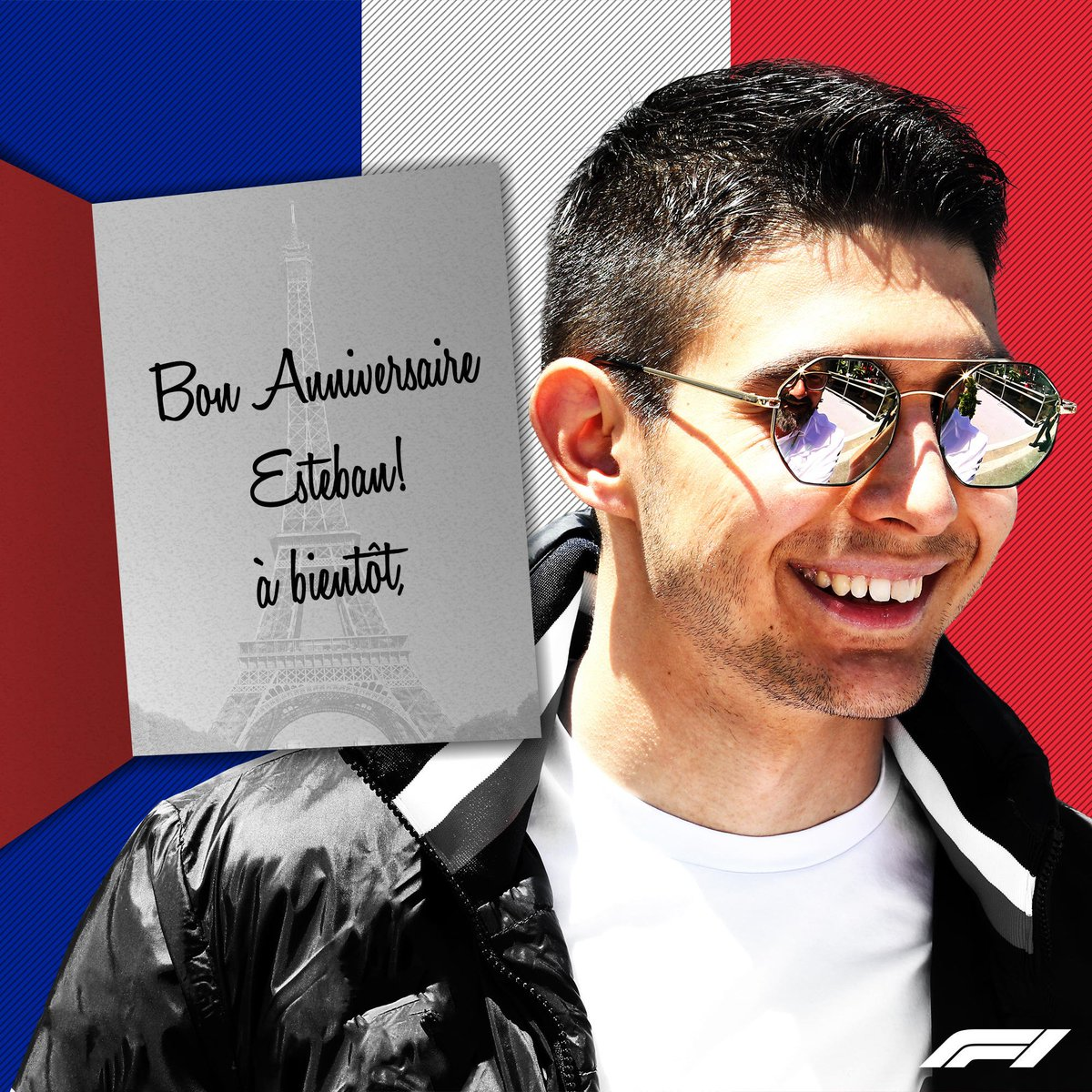 Bon anniversaire, @OconEsteban 🎂  We'll celebrate with you on the #F1 grid next year 🎉