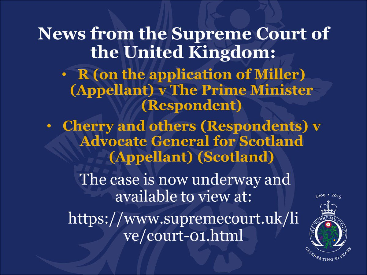 News from the Supreme Court of the United Kingdom. The case is available to view at: supremecourt.uk/live/court-01.…