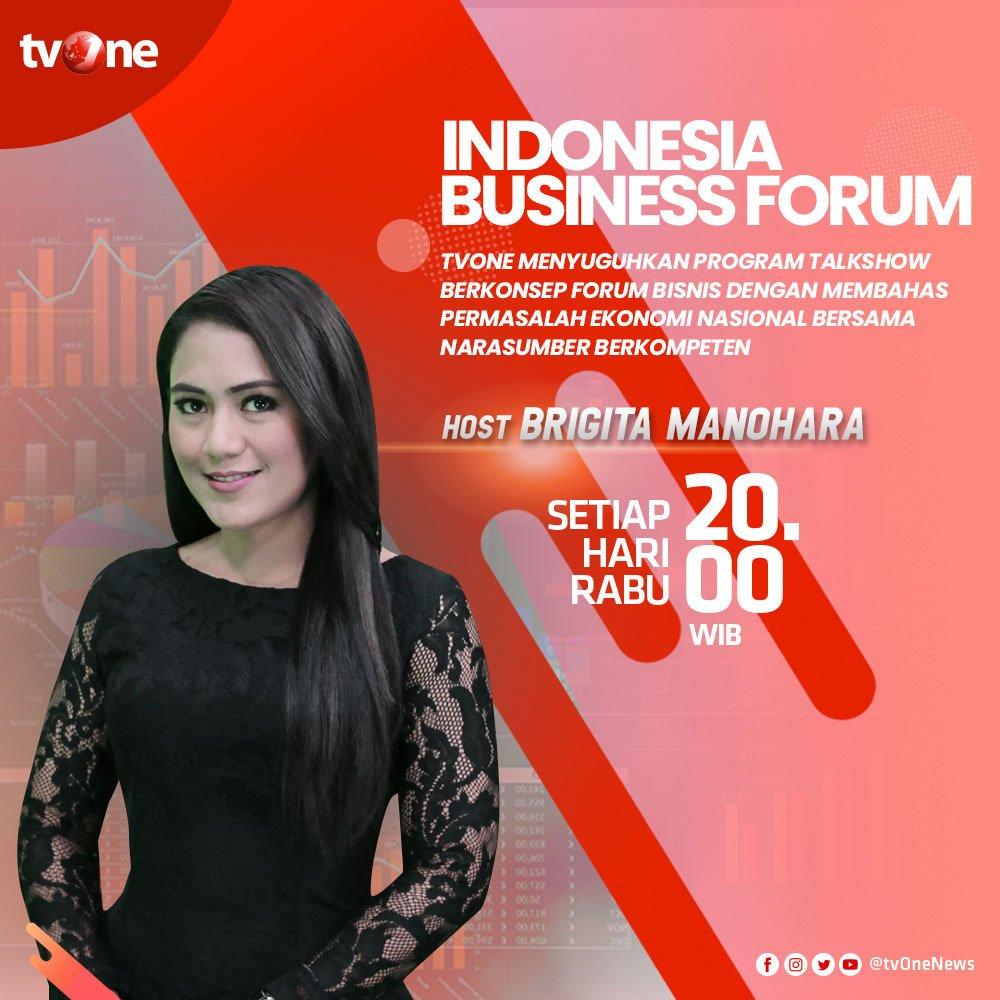 Saksikan Indonesia Business Forum membahas isu menarik tentang perkembangan ekonomi bersama Brigita ManoharaSetiap Rabu, jam 20.00 WIB di tvOne & streaming tvOne connect, android http://bit.ly/2EMxVdm & ios http://apple.co/2CPK6U3. #IBFTVONE