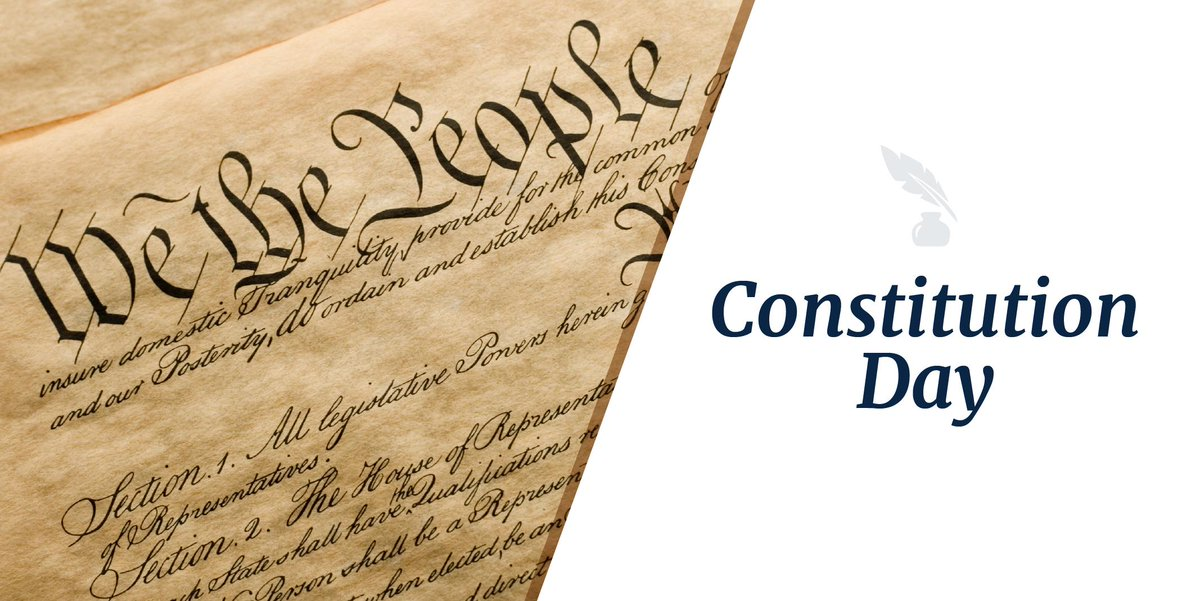 Happy #ConstitutionDay! Blessed to live in a country where our freedoms are recognized and protected.