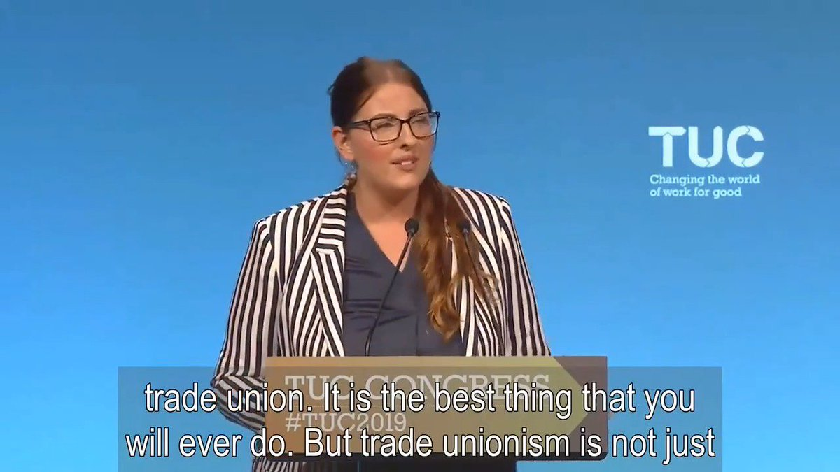 We know that pay stagnation & income inequality are a direct result of the attack on workers' ability to organise through their trade union. The best way to reverse this trend, to feel freer to express your opinion & realise your rights is to join a trade union. #TUC2019