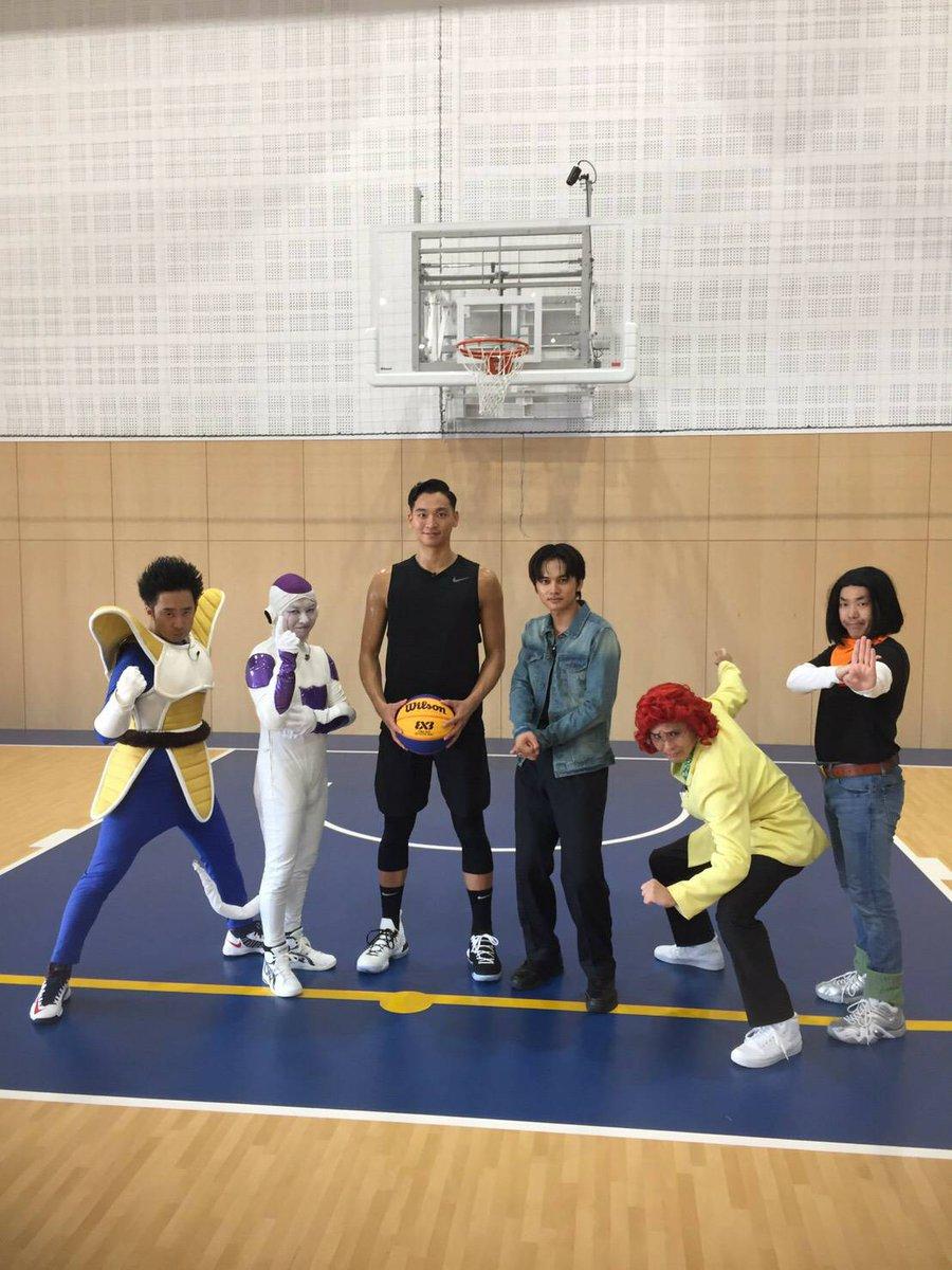 明日!日本テレビ24:09〜『それって⁉︎実際どうなの課』オラたちDB芸人と俳優の北村匠海さんがトランクスになって、バスケ3×3の達人に挑戦!!ぜってぇ見てくれよな!