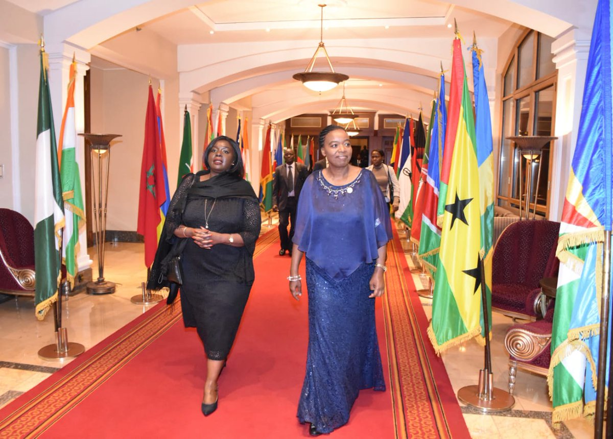 Arriving for the launch with CS Raychelle Omamo