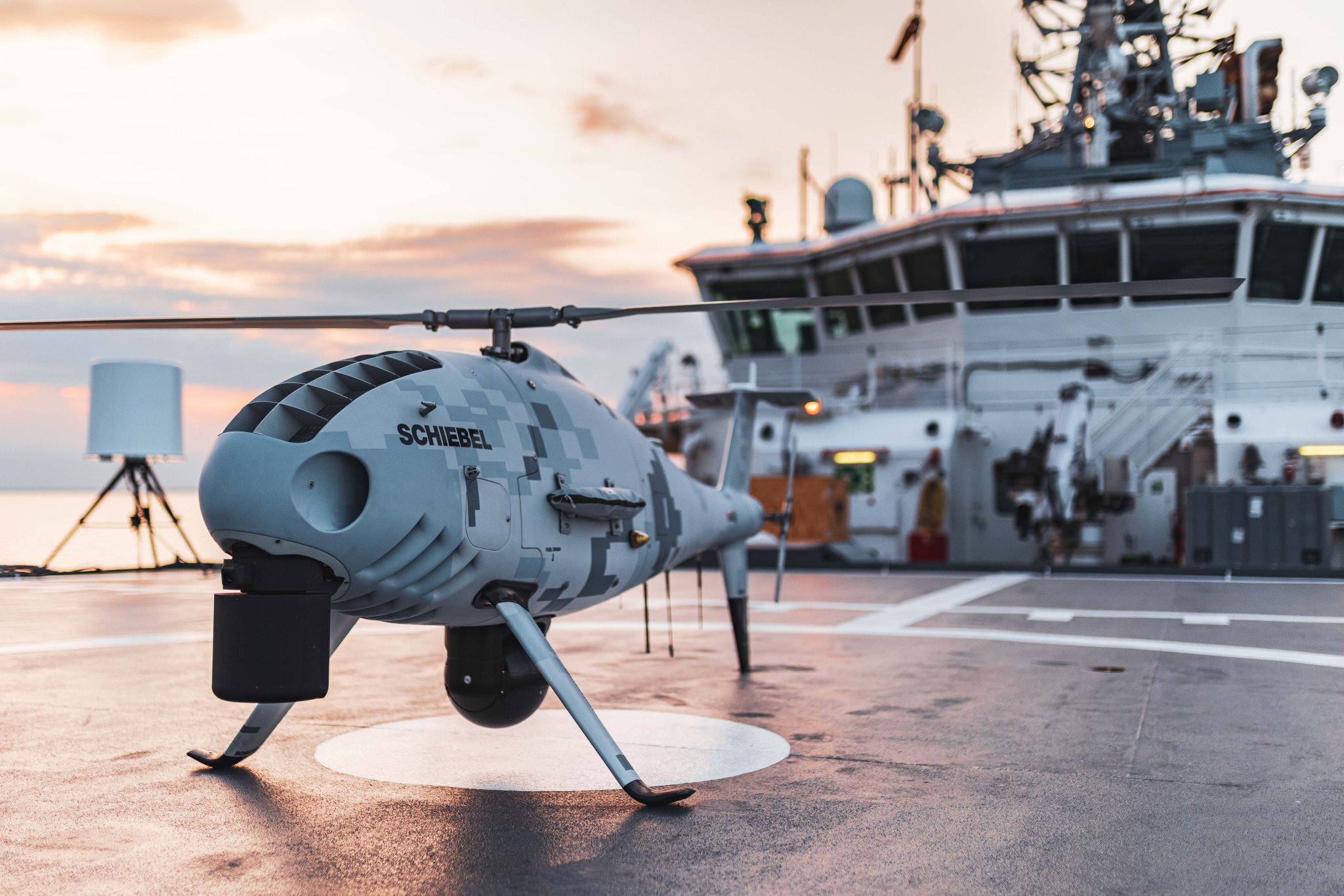 Schiebel Camcopter S-100 onboard Finnish Border Guard's Turva OPV