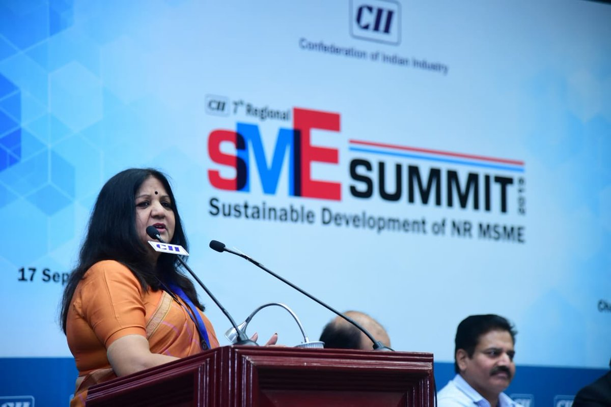 """CII Live on Twitter: """"We are working towards capacity building of #Bankers,  esp. in #rural areas so that public money is spent with caution~Smt Rachna  Dikshit, Regional Director, Reserve Bank of India,"""