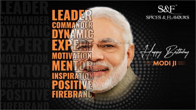 Happy birthday to the most dynamic & firebrand leader, we have! Shri Narendra Modi