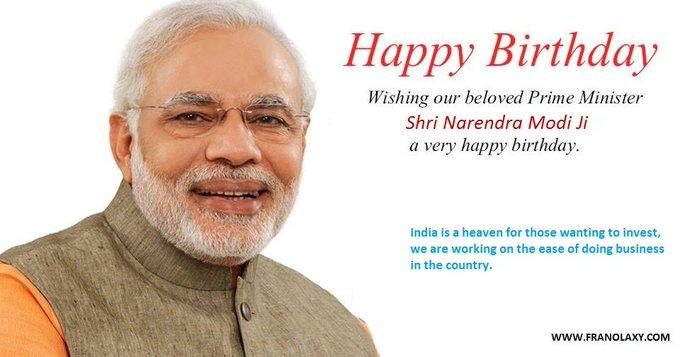 Happy Birthday Our Beloved Prime Minister Shri Narendra Modi Ji