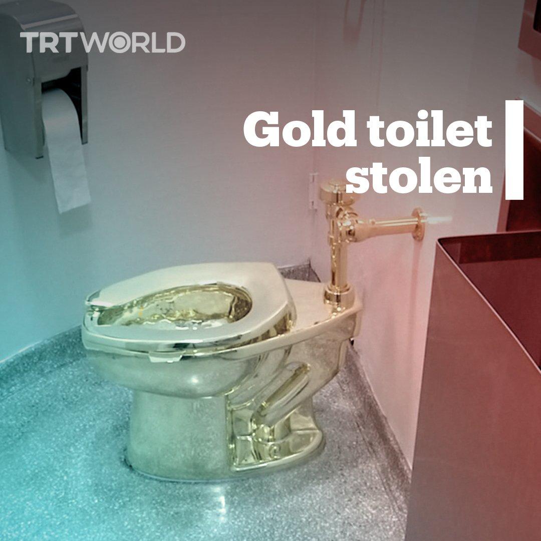 RT @trtworld: An 18-carat gold toilet named
