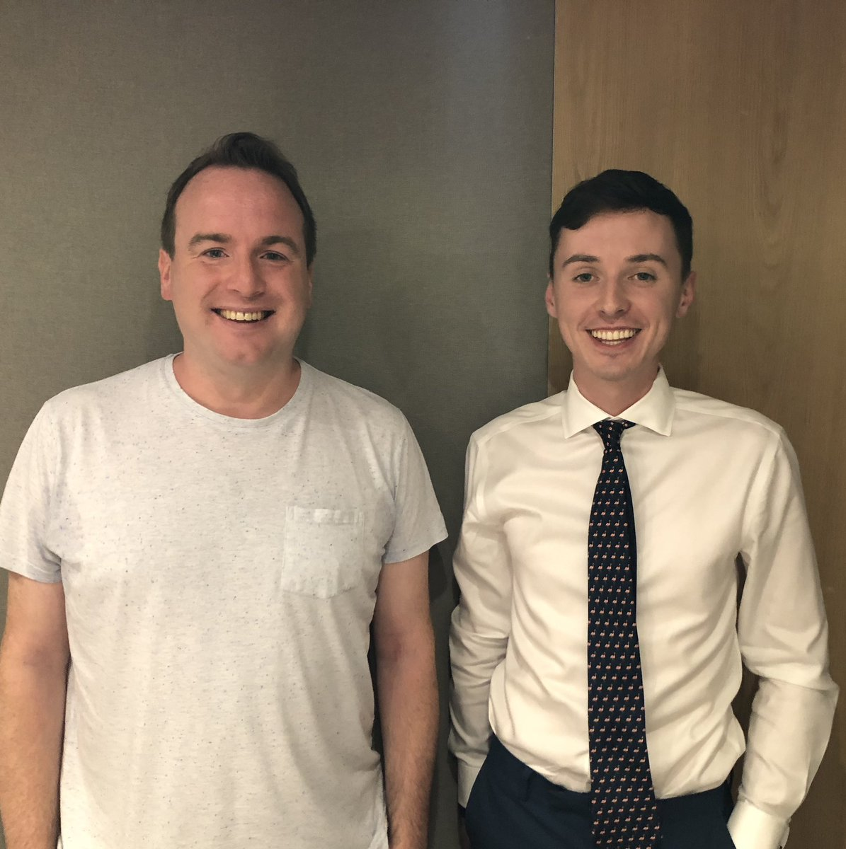Just recorded a sizzler of a Political Party with @darrengrimes_. Podcast out soon!