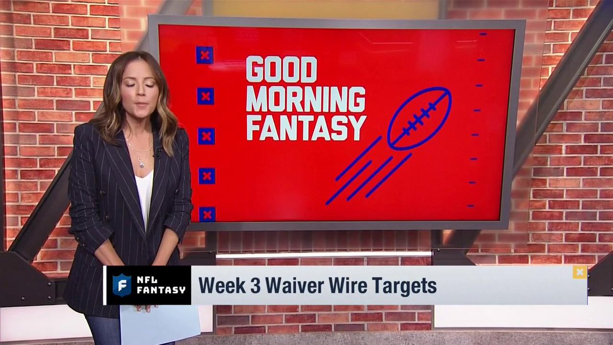 Did you lose your starting QB this week? Do you need another WR in your lineup?  We turn to our fantasy expert @heykayadams to tell you who you NEED to pick up for Week 3.   #FantasyWaiverWire | @NFLFantasy | #FantasyFootball https://t.co/Z3WcCfTf5b