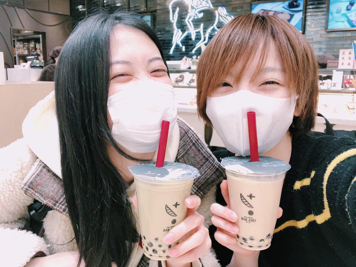 私のデータフォルダにあるもえぴとのツーショットがジャシステの稽古の時のこれが最新でうそやんってなってるから、今度の大阪イベントでいっぱい写真撮ろうねってなってる🦉(まるで鼻にストロー刺さってるような写真である🥤)
