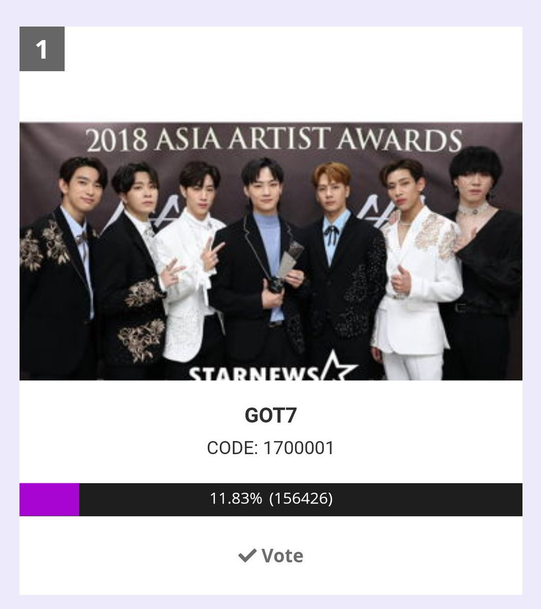Congratulations ahgases!  We've claimed #1. Please still participate in voting and widening the gap. Mass voting starting at 12am kst.   #GOT7  #갓세븐  @GOT7Official <br>http://pic.twitter.com/Lc27szrRVx