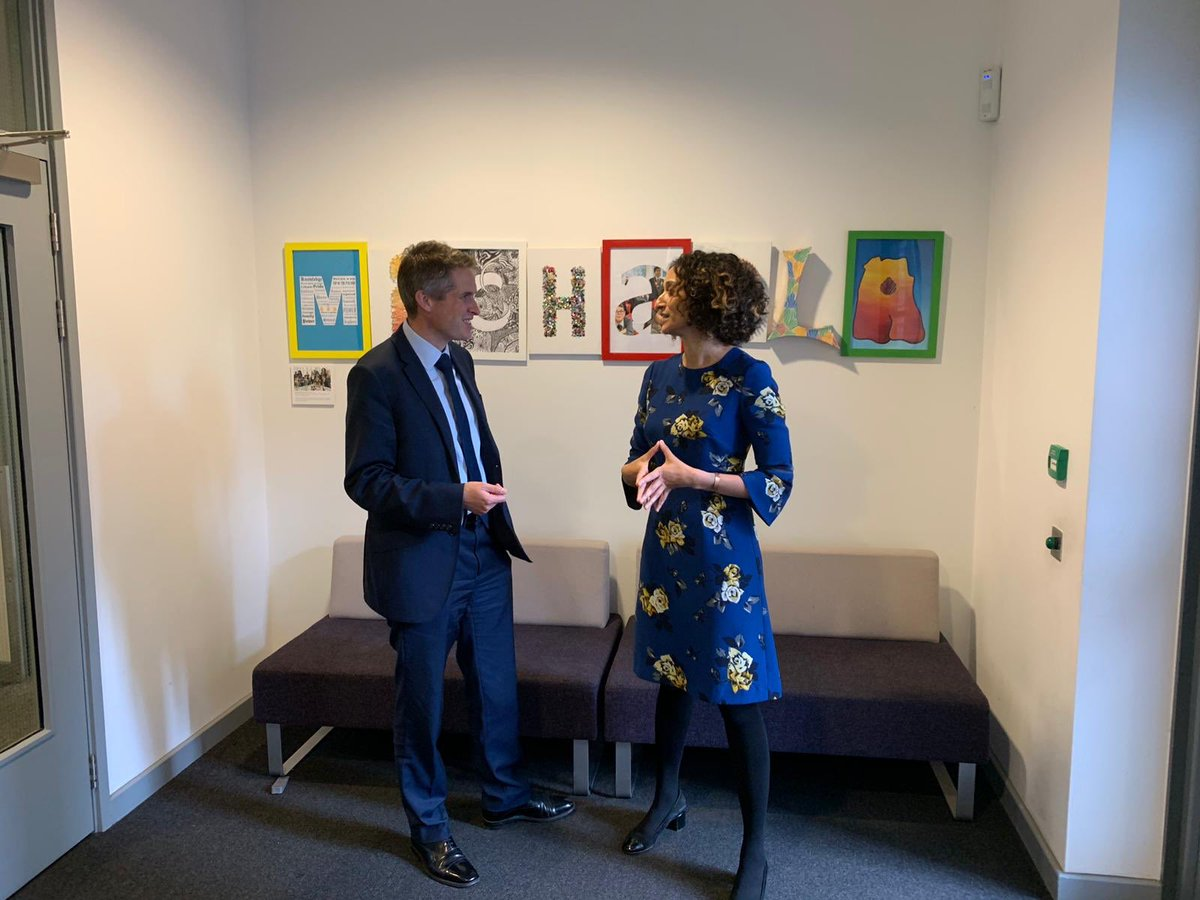 I thought @GavinWilliamson Ed Secretary was really open to different ideas, interested in how our school works and wanting to learn. Huge respect for him. I really enjoyed his visit to Michaela today! 🥰