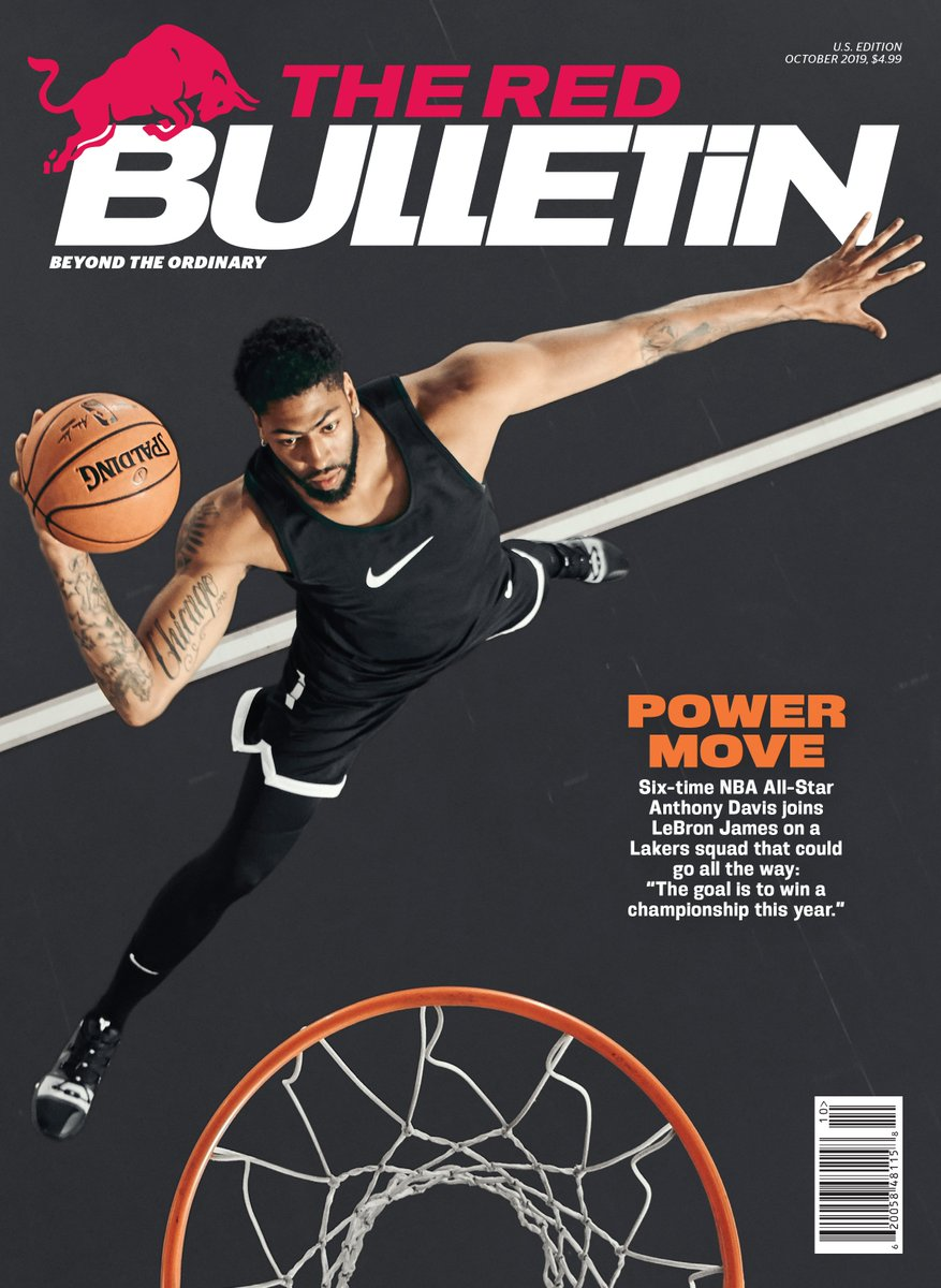 """The focus right now is to hold the trophy up in June"". Check out The Red Bulletin latest issue out now with @AntDavis23 on the cover 👀🏆 https://t.co/UJa74rembL  For more about 🏀 follow @redbullhoops. https://t.co/rJ4eyNX07r"