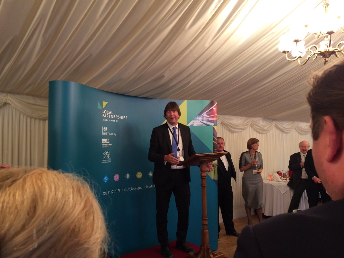 """Local Parnterships are a unsung hero in the public sector""  Delighted that @garyportercbe is hosting our #LocalPartnerships10 anniversary in the House of Lords this evening 🎉🎈"