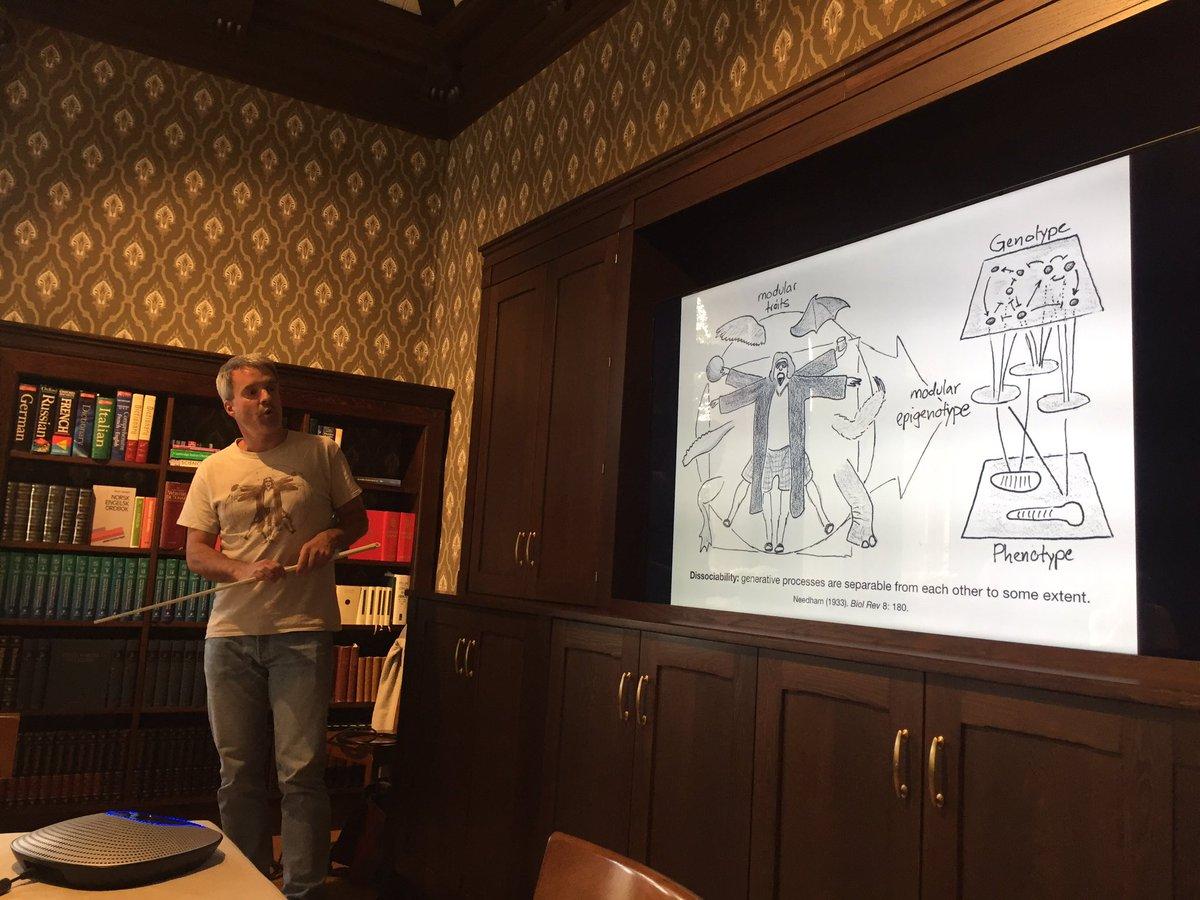 Enjoyed both the talk and the art by Johannes Jaeger (@yoginho) at @CASOslo today. #dynamicalmodels #morphogenetics #evolvability