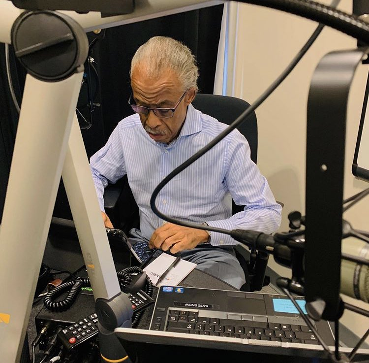 In studio now. I'm live on Keeping it Real w/  Al Sharpton from 1-4 pm/et on local stations and Sirius XM 126. Call in at 877 532 5797. https://t.co/m30gnjPdh9