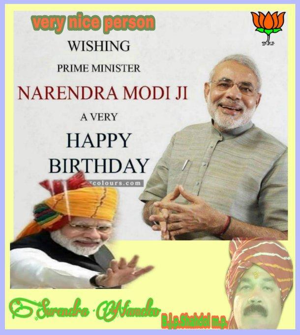 Wishing p.m.narendra modi ji a very happy birthday