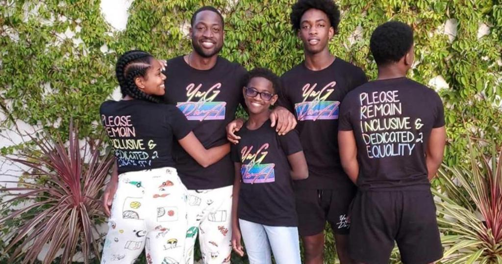 Dwyane Wade and Gabrielle Union launch LGBTQ t-shirts after supporting 12-year-old son cbsn.ws/2O7gK9c