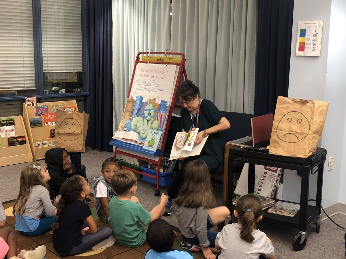 Kindergarten students learn how to take care of books with Mr. Wiggles and librarian <a target='_blank' href='http://twitter.com/KarenBentall'>@KarenBentall</a> <a target='_blank' href='http://twitter.com/APSLibrarians'>@APSLibrarians</a> <a target='_blank' href='http://search.twitter.com/search?q=APSIsAwesome'><a target='_blank' href='https://twitter.com/hashtag/APSIsAwesome?src=hash'>#APSIsAwesome</a></a> <a target='_blank' href='https://t.co/dzMQ2PmENe'>https://t.co/dzMQ2PmENe</a>