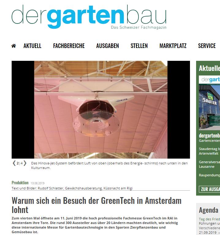 Mooi stukje over ons systeem op de @GreenTechRAI in een Zwitsers vakblad! https://t.co/2KUCa2Id4F