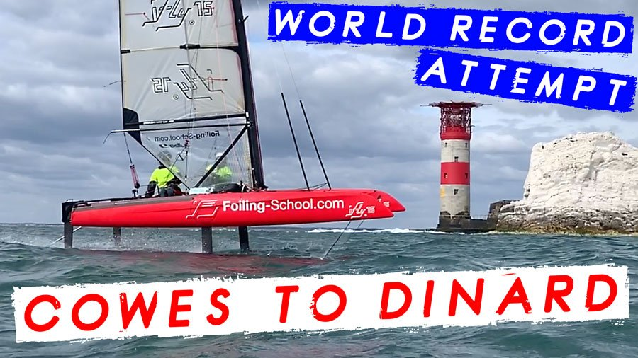 Yo Wiebel and Tamara Baumann embark on the ultimate Foiling challenge from Cowes to Dinard, attempting a new World record. Watch the video on our YouTube Channel https://t.co/9a4QpgmvoW #HeadToWind