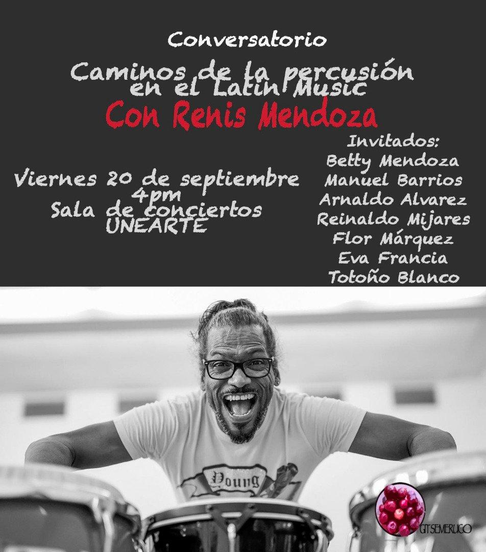 #EnNoticia| Te invitamos a participar en nuestro conversatorio Caminos de la percusion en el Latin Music, no te lo pierdas, este 20 de septiembre en nuestra @CulturasUNEARTE