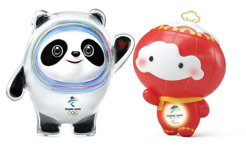 Come to see Bing Dwen Dwen and Shuey Rhon Rhon hands in hands. @Beijing2022 #Olympic Winter Games