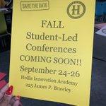 Image for the Tweet beginning: ✨ STUDENT LED CONFERENCES✨ #SaveTheDate