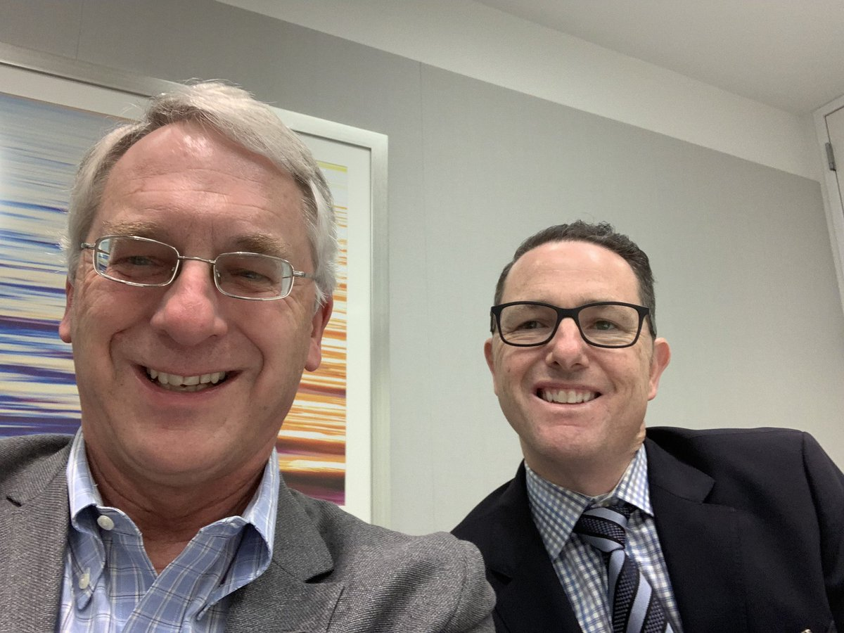 Today I'm visiting professor at the Harvard Hospitals and had the pleasure of exchanging notes with the legendary @jkvedar. So much to learn from him about the past and future of #DigitalHealth. Look forward to returning next month to speak in his @connectedhealth conference.