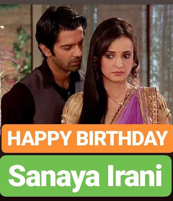 HAPPY BIRTHDAY  Sanaya Irani ISS PYAAR KO KYA NAAM DOON Serial  TV Actress