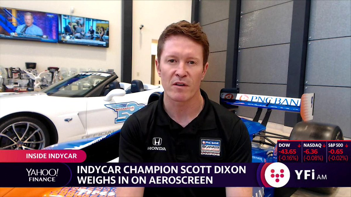 "Highlight: ""It's a major change in a very positive direction,"" Defending IndyCar Champion @scottdixon9 says on aeroscreen that will cover the cockpit and add more protection for drivers. ""The big picture is why would you not try and make the sport safer."" Full interview:"