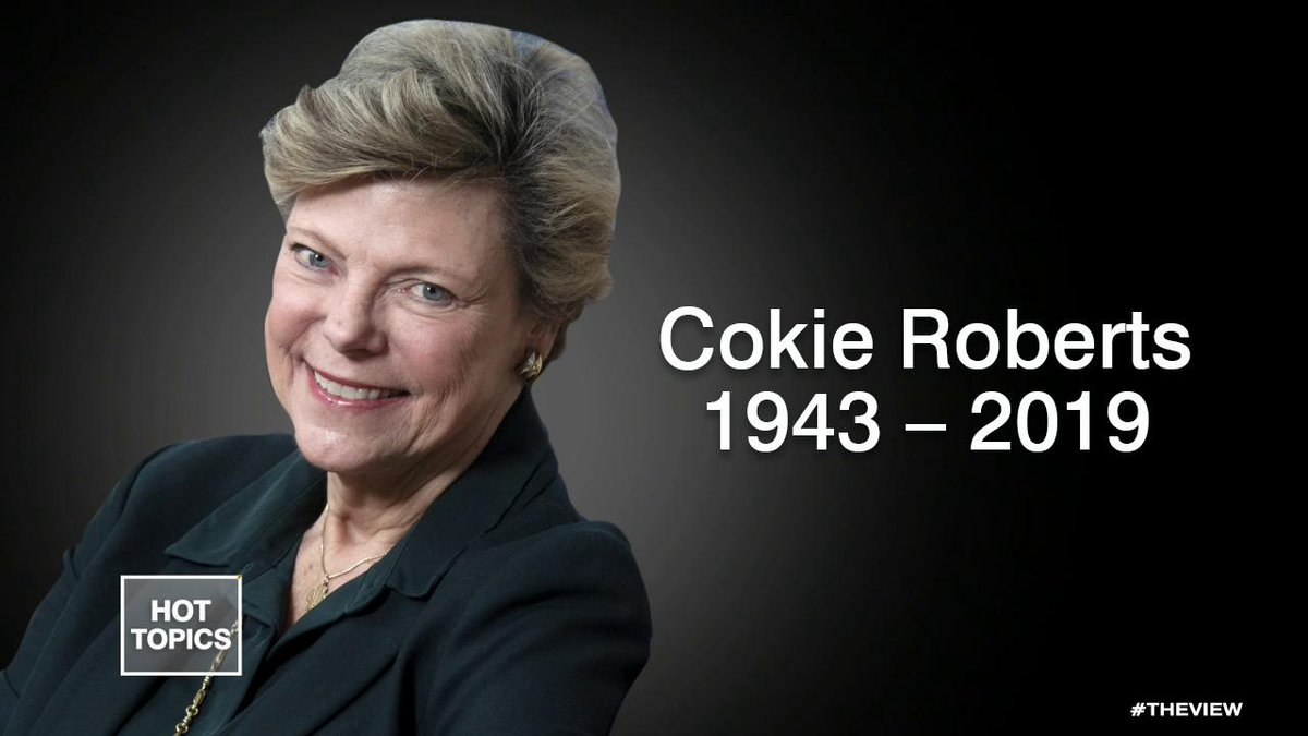 REMEMBERING COKIE ROBERTS: Acclaimed journalist and political commentator Cokie Roberts passed away at 75 Tuesday — Whoopi Goldberg, Abby Huntsman, Joy Behar, Sunny Hostin, and Meghan McCain remember her legendary career. abcn.ws/2lSgXRM