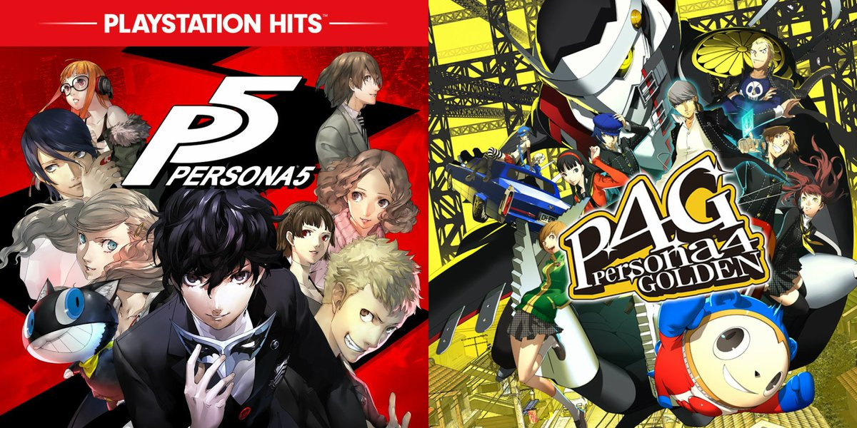 Persona 5 (PS4) is $11.99 on US PSN  http:// bit.ly/2AZwdhH      Persona 4 Golden (Vita) $9.99  http:// bit.ly/2FAFxiO     <br>http://pic.twitter.com/yzFcRkNSCc