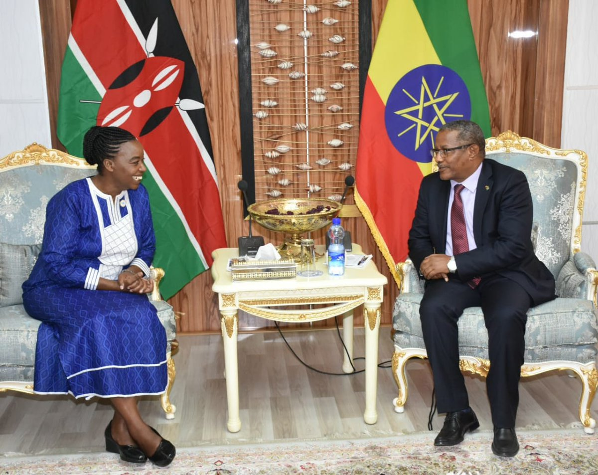 3/3..Minister Gedu reaffirmed Ethiopias support for Kenyas bid to the UNSC. We look forward to drawing on the experience of Ethiopia in the Council.
