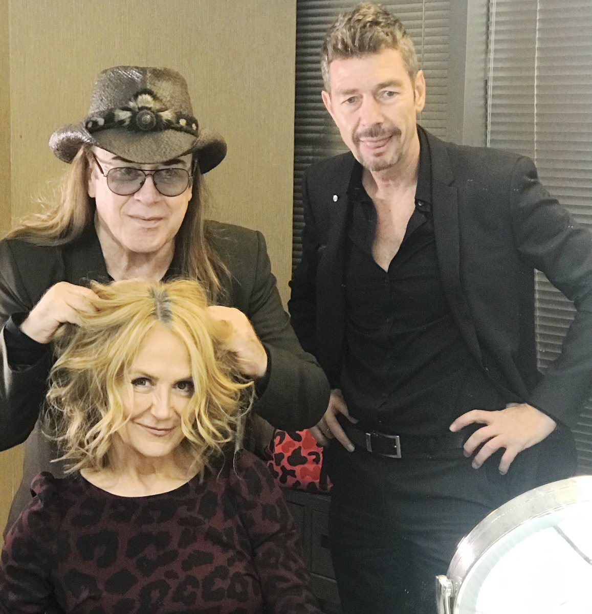 """People ask about the hardest part of my job & I say """"my hair! But having celebrity  hair stylist Jose Eber  would put a smile on my face every morning - - - I'll be hosting Eber at his new Jose Eber Plano tonight at 6:00 and I hope to meet you there! #goodmorningtexas #hairstyles"""