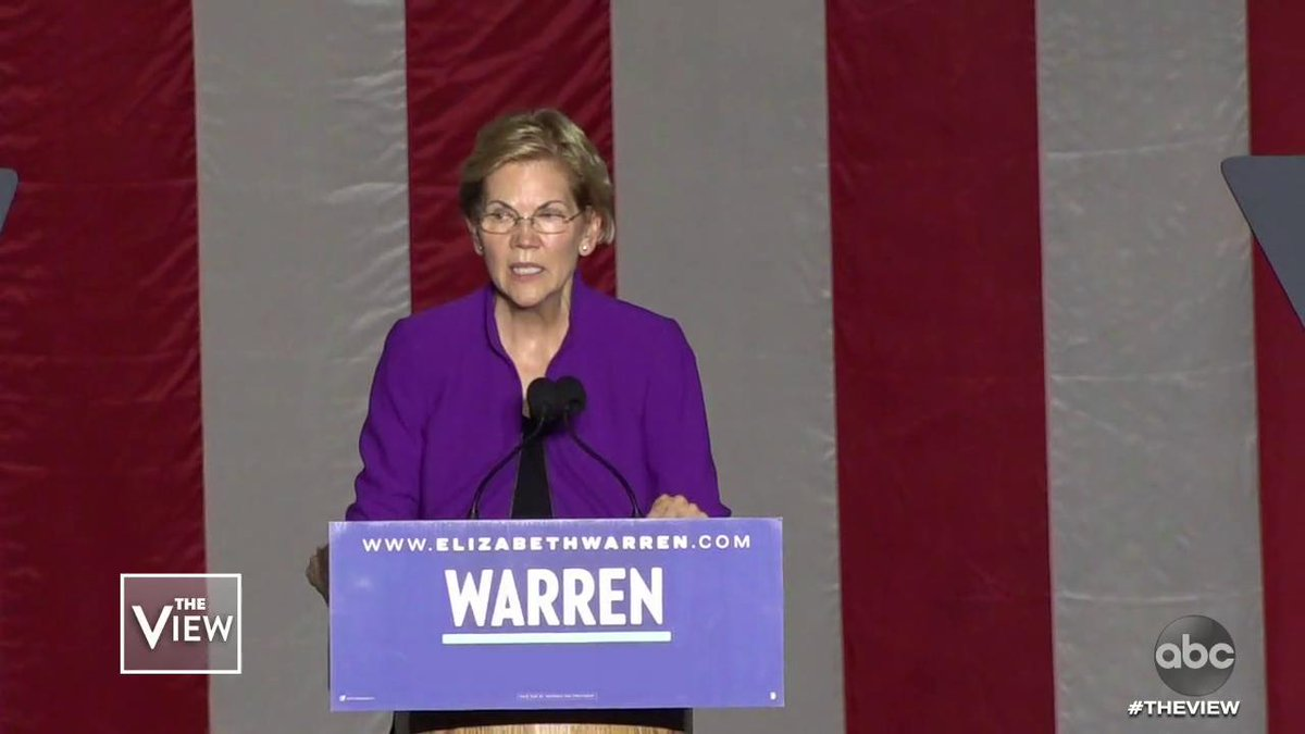 IS ELIZABETH WARREN TOO FAR LEFT TO WIN? The 2020 candidate drew in her biggest crowd yet in New York using a pivotal moment of her campaign to paint a vivid and at times gruesome picture of corruption – the co-hosts discuss. abcn.ws/30mkXs4